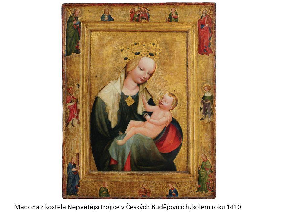 Nejčastější námět gotických obrazů - MADONA Je to zobrazení Marie s Ježíškem, přeneseně zobrazení matky s dítětem U většiny obrazů neznáme autora.