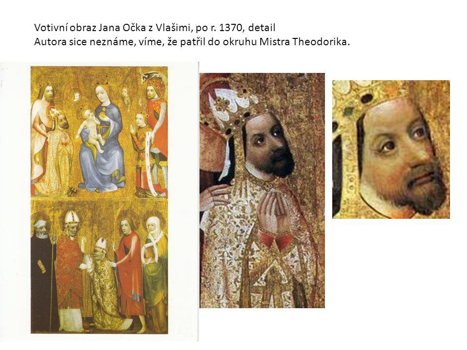 Votivní obraz Jana Očka z Vlašimi, po r. 1370, detail Autora sice neznáme, víme, že patřil do okruhu Mistra Theodorika.