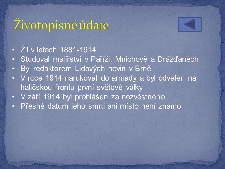 Životopisné údaje Výběr z díla Obrázek č. 1 Obrázek č.