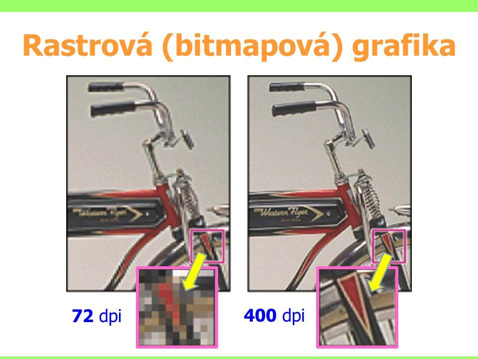 Rastrová (bitmapová) grafika 72 dpi 400 dpi