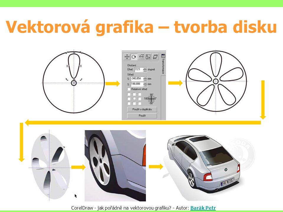 Vektorová grafika – tvorba disku CorelDraw - jak pořádně na vektorovou grafiku? - Autor: Barák PetrBarák Petr