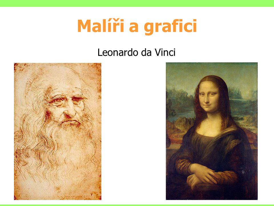 Malíři a grafici 8 Leonardo da Vinci