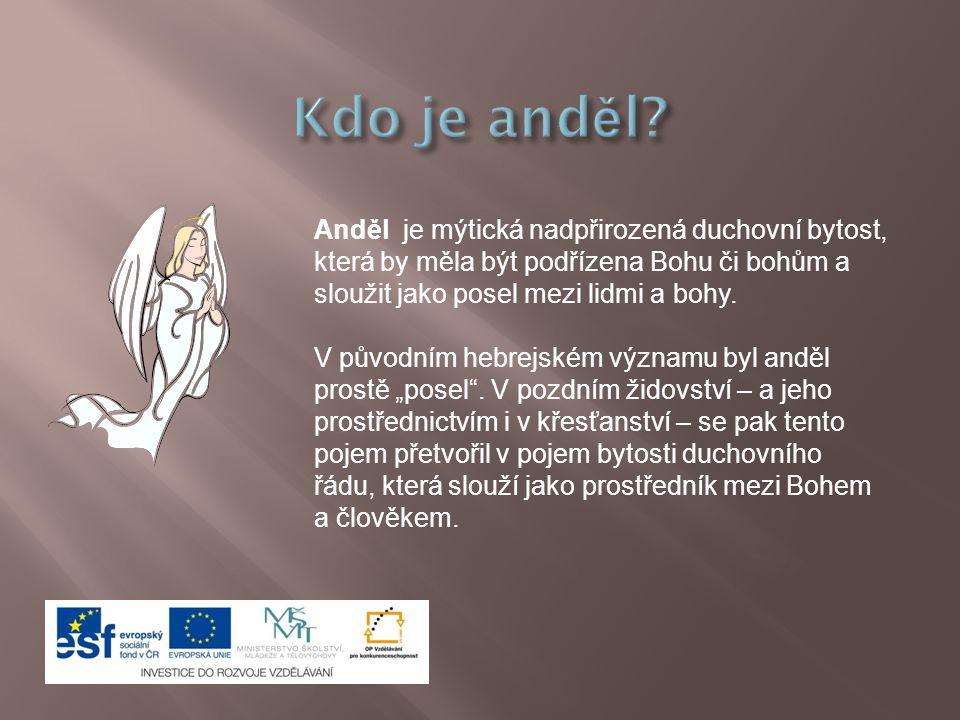 Anděl je mýtická nadpřirozená duchovní bytost, která by měla být podřízena Bohu či bohům a sloužit jako posel mezi lidmi a bohy.