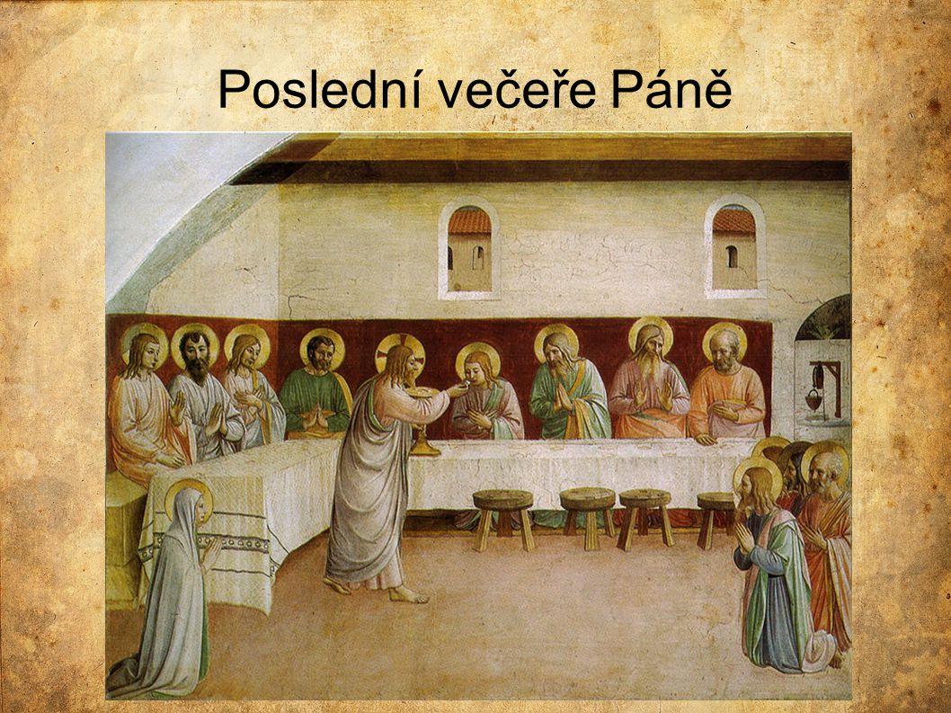 Porovnání s Leonardovým dílem  Stůl je bílý, řádně uspořádaný a prostřený  Apoštolové mají kolem hlavy svatozář  Také vidíme více světla a radosti  Každá postava působí klidně, žádné výrazné emoce  Ježíš jediný stojí