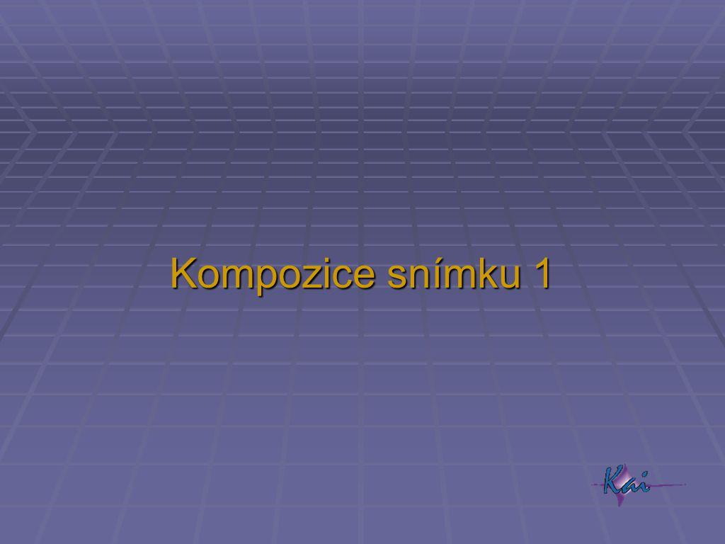Kompozice snímku 1