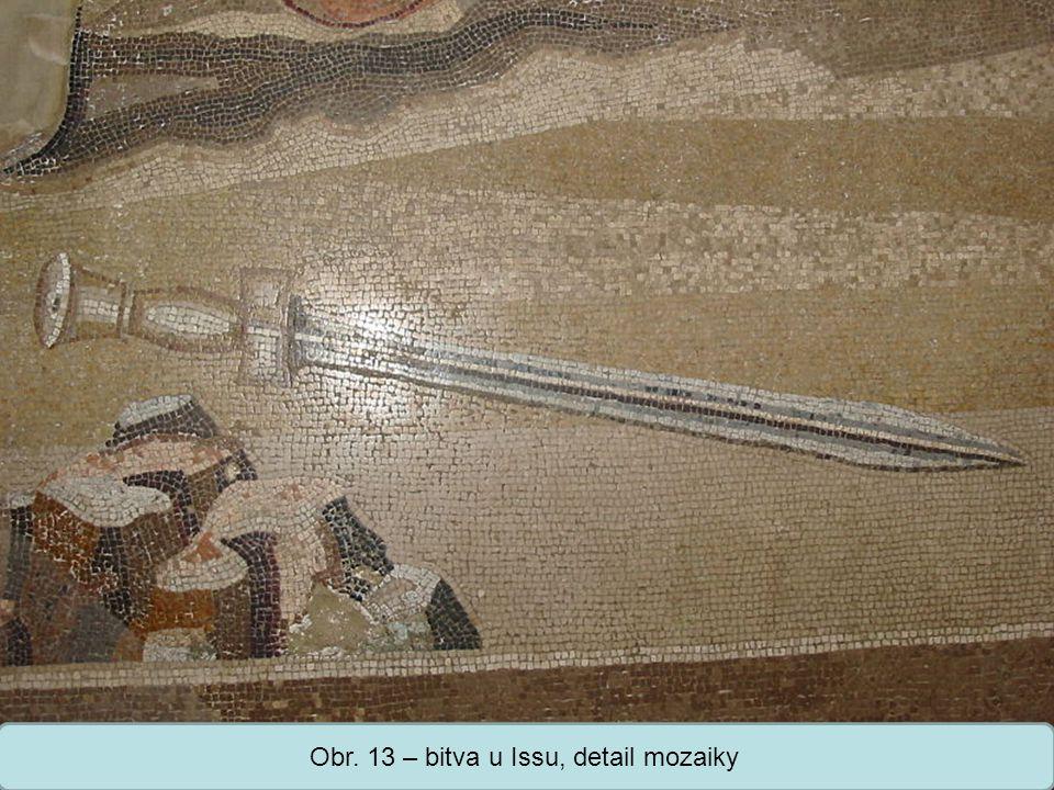 Střední škola Oselce Obr. 13 – bitva u Issu, detail mozaiky