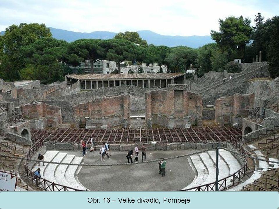Střední škola Oselce Obr. 16 – Velké divadlo, Pompeje