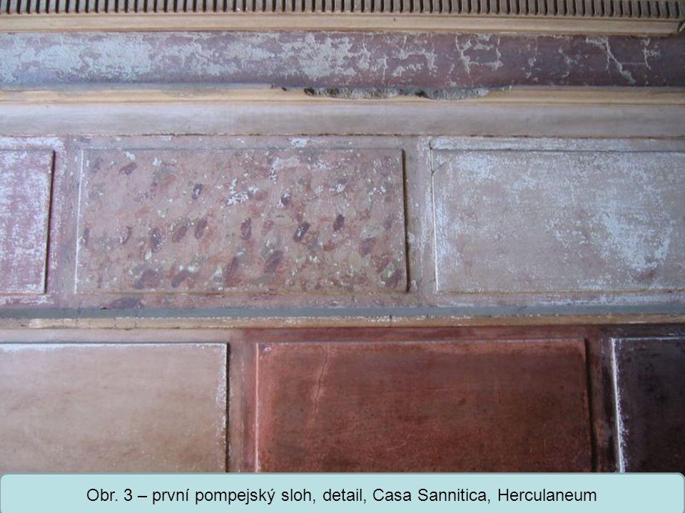 Střední škola Oselce Druhý pompejský sloh = iluzionistický -vytvoření iluze skutečné architektury malovanými sloupy, pilastry s kladím a zdánlivými průhledy do síní -figurální obrazy s mytologickými náměty nebo krajinou