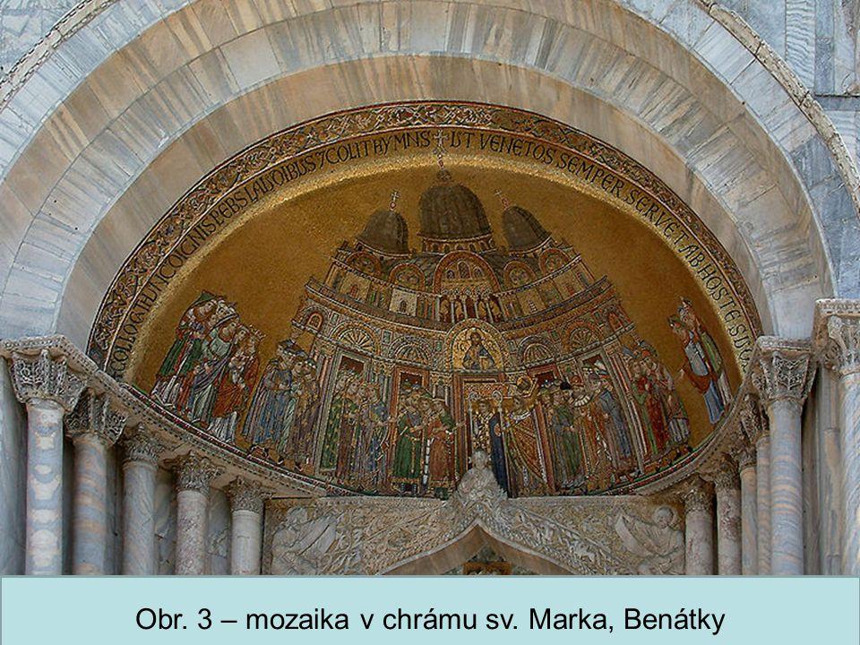 Střední škola Oselce Obr. 3 – mozaika v chrámu sv. Marka, Benátky