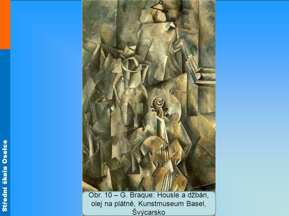 Střední škola Oselce Obr. 10 – G. Braque: Housle a džbán, olej na plátně, Kunstmuseum Basel, Švýcarsko