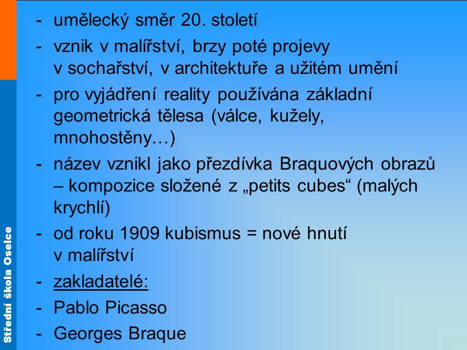 Střední škola Oselce -umělecký směr 20.