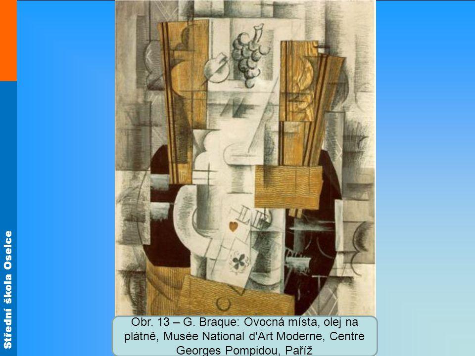 Střední škola Oselce Obr. 13 – G. Braque: Ovocná místa, olej na plátně, Musée National d'Art Moderne, Centre Georges Pompidou, Paříž
