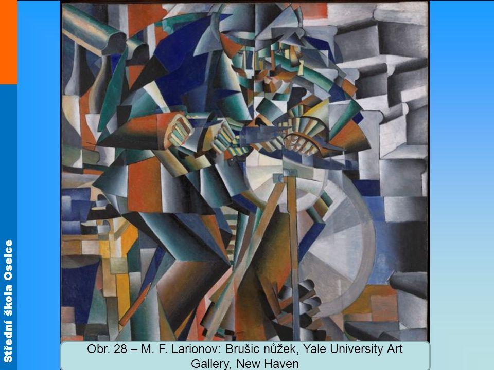 Střední škola Oselce Obr. 28 – M. F. Larionov: Brušic nůžek, Yale University Art Gallery, New Haven