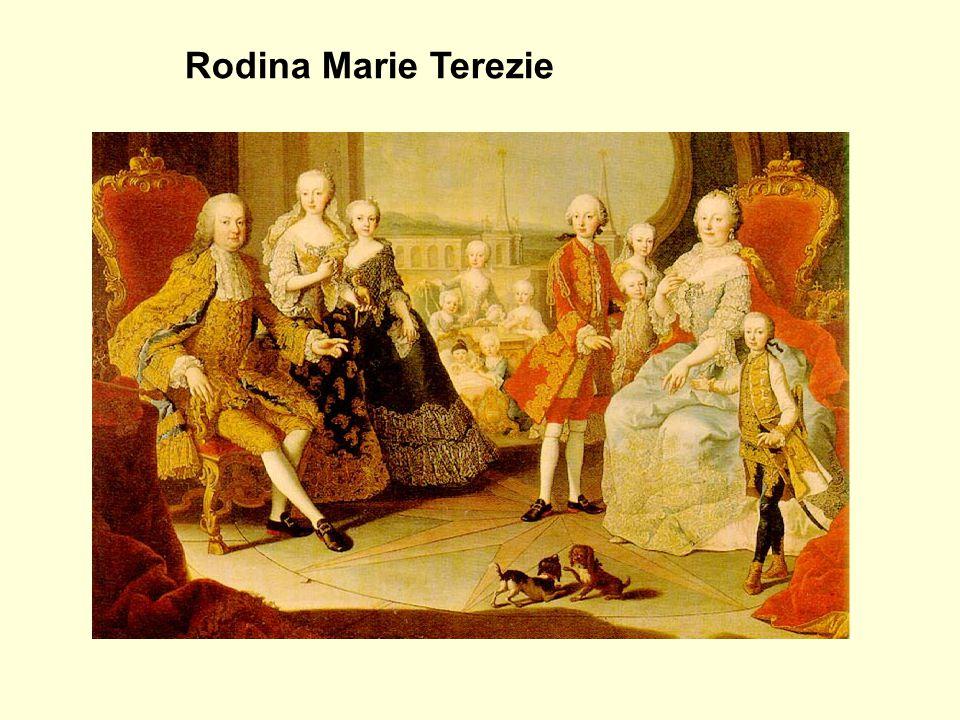 Josef II. Marie Antoinetta Rodina Marie Terezie