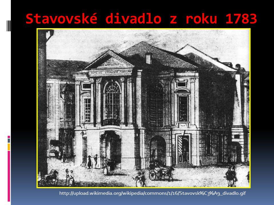 Stavovské divadlo z roku 1783 http://upload.wikimedia.org/wikipedia/commons/1/16/Stavovsk%C3%A9_divadlo.gif