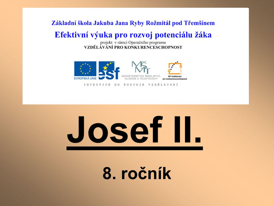 REFORMY JOSEFA II.: 1.