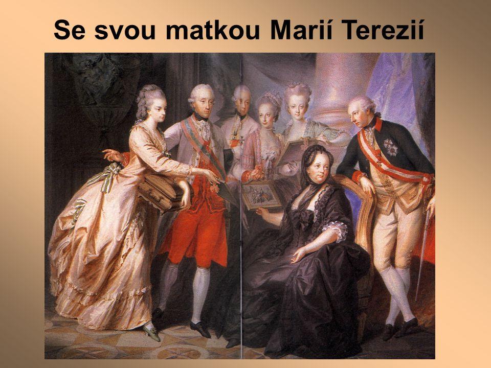 Se svou matkou Marií Terezií
