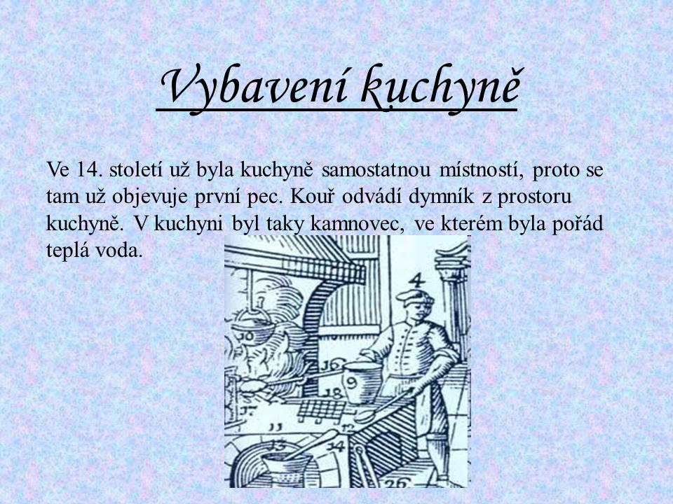 Vybavení kuchyně Ve 14.