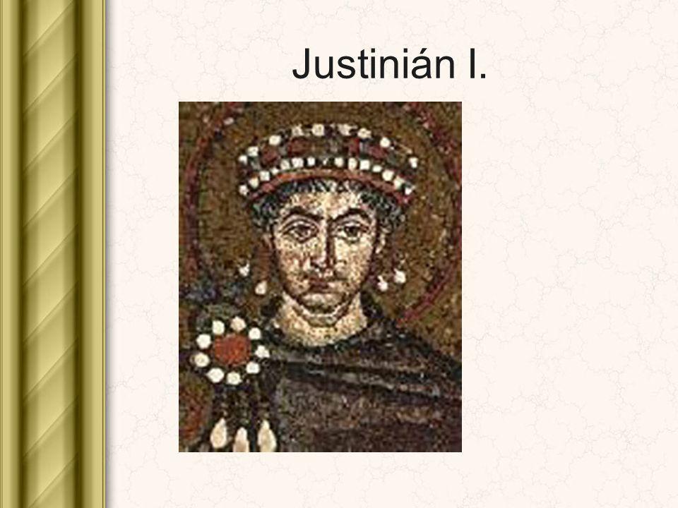 ROZKLAD ŘÍŠE Kruté daně – bouře poddaných 532 – povstání Niká v Konstantinopoli Finanční vyčerpání a oslabení země za Justiniánových nástupců Uklidnění za císaře Herakleia I.
