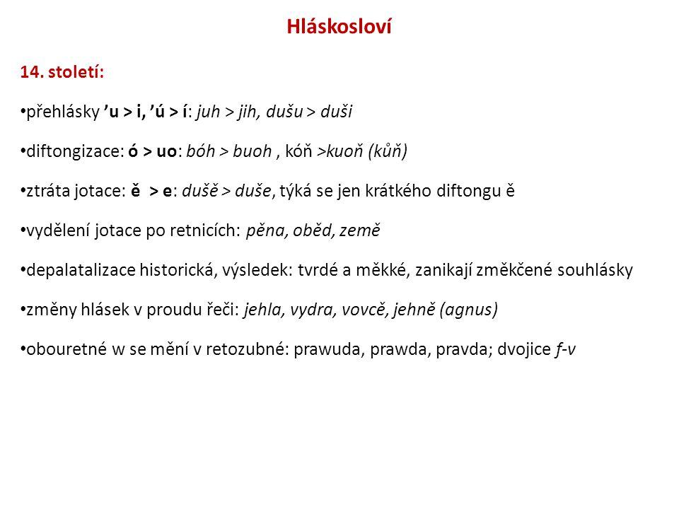 Čeština doby střední – období humanistické (16.století–1620) Síť tiskáren Od 70.