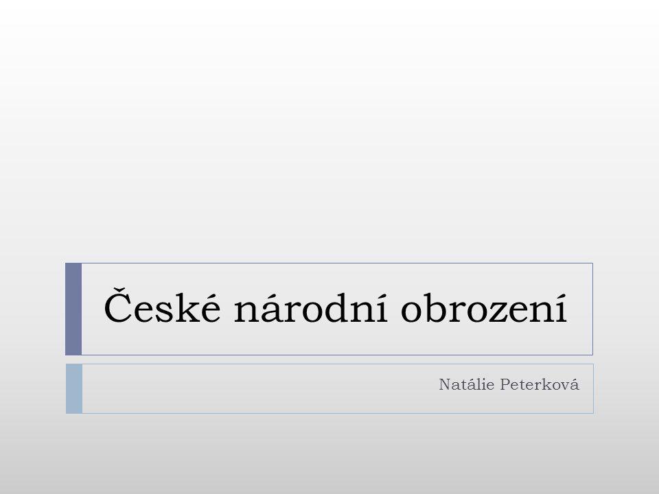 České národní obrození Natálie Peterková