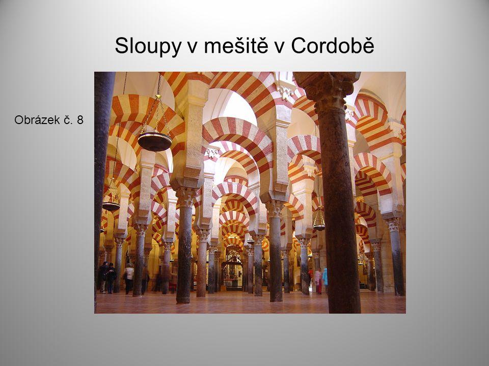 Sloupy v mešitě v Cordobě Obrázek č. 8