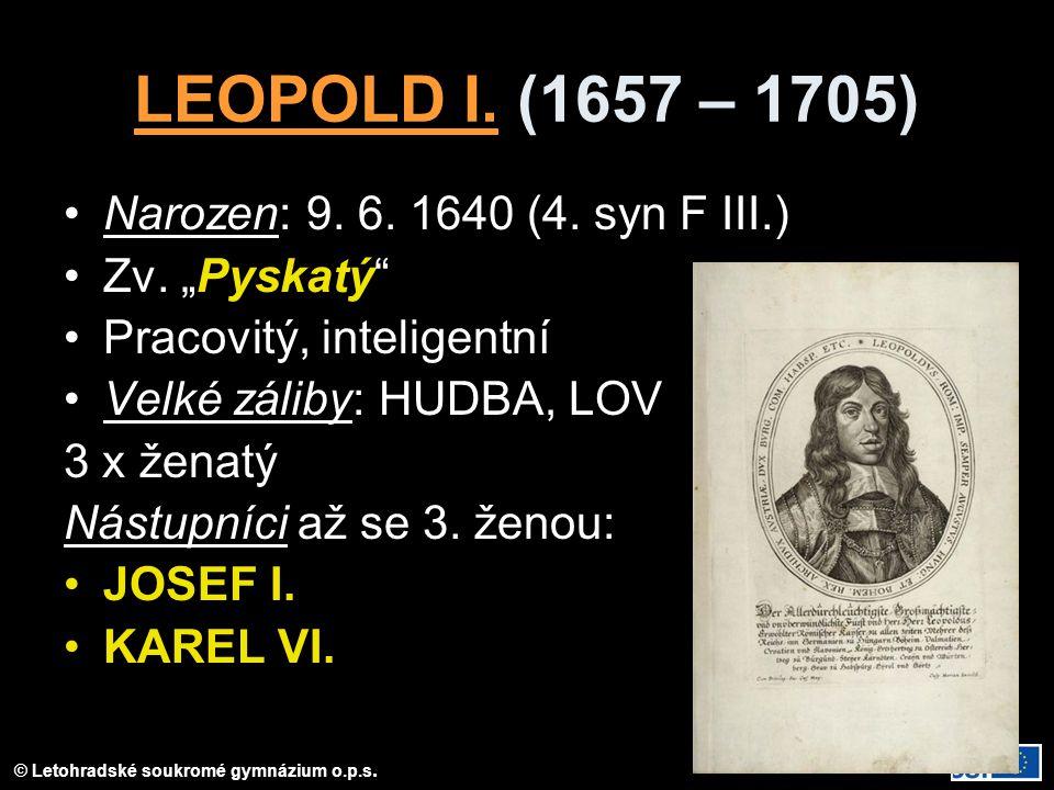 © Letohradské soukromé gymnázium o.p.s.LEOPOLD I.