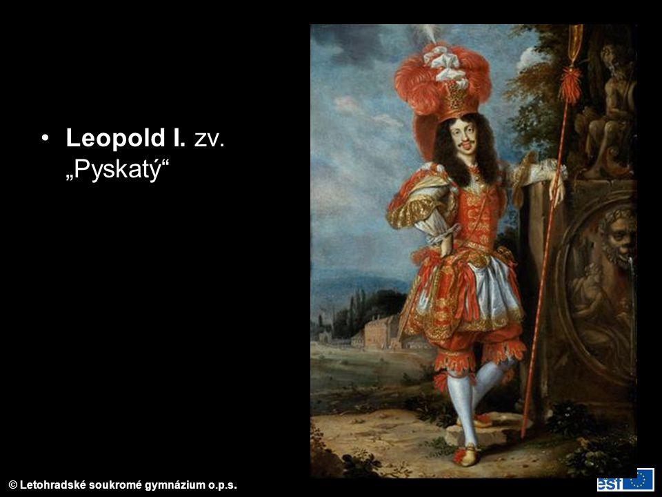 """© Letohradské soukromé gymnázium o.p.s. Leopold I. zv. """"Pyskatý"""
