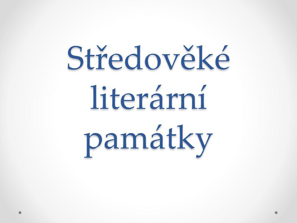 Středověké literární památky