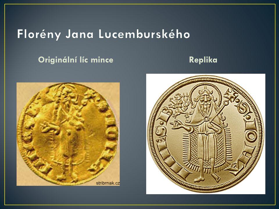 Originální líc minceReplika