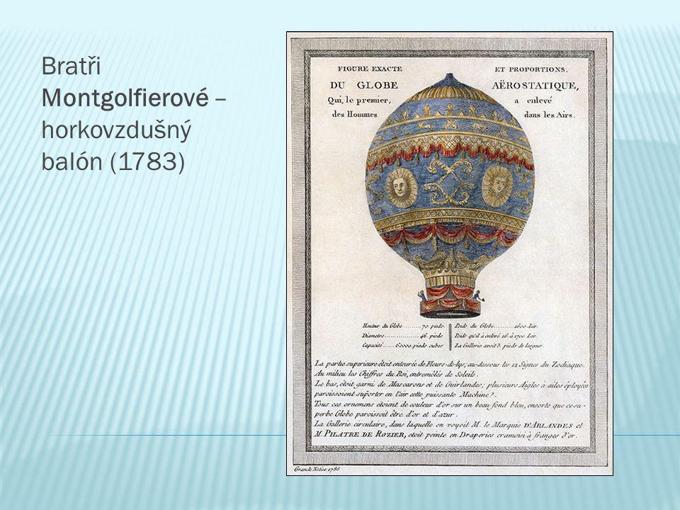 Bratři Montgolfierové – horkovzdušný balón (1783)