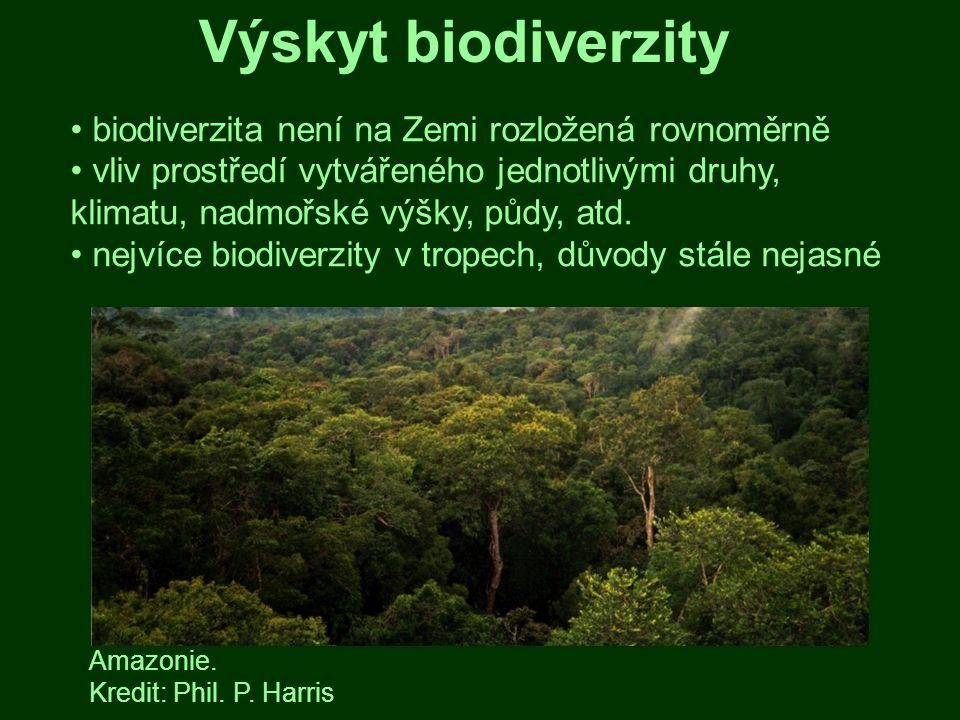 Horká místa biodiverzity anglicky hotspots nemusí odpovídat tradičním představám Amazonie nepatří mezi nejvýznamnější horká místa BD Mapa horkých míst biodiverzity.