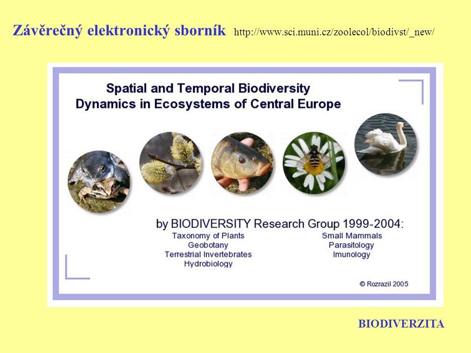 Návaznosti po ukončení VZ K 1.1.2005 byl schválen projekt: Diverzita biotických společenstev a populací: kauzální analýza variability v prostoru a čase MSM 002 162 2416 řešitel: Doc.