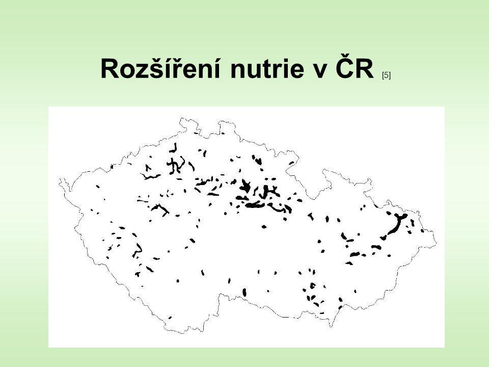 Rozšíření nutrie v ČR [5]