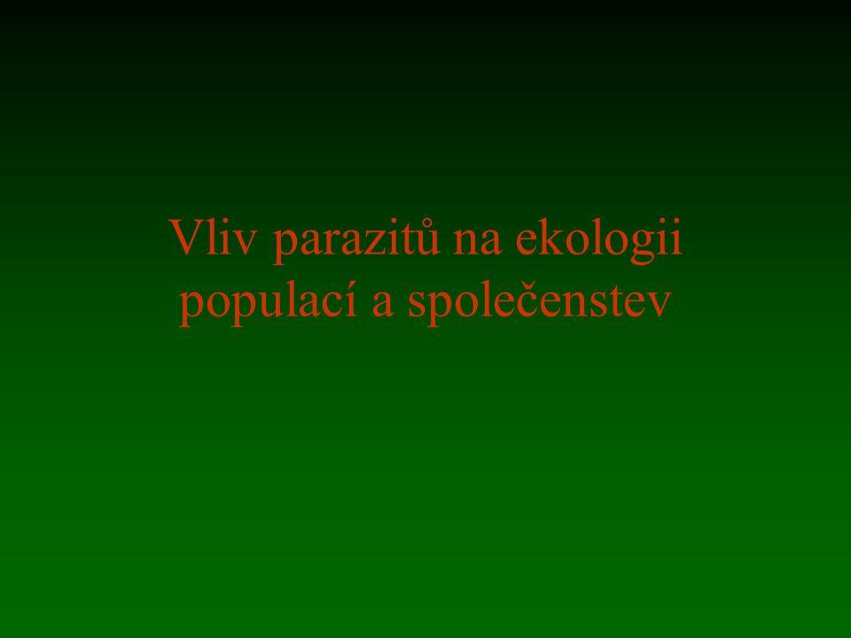 Vliv parazitů na ekologii populací a společenstev