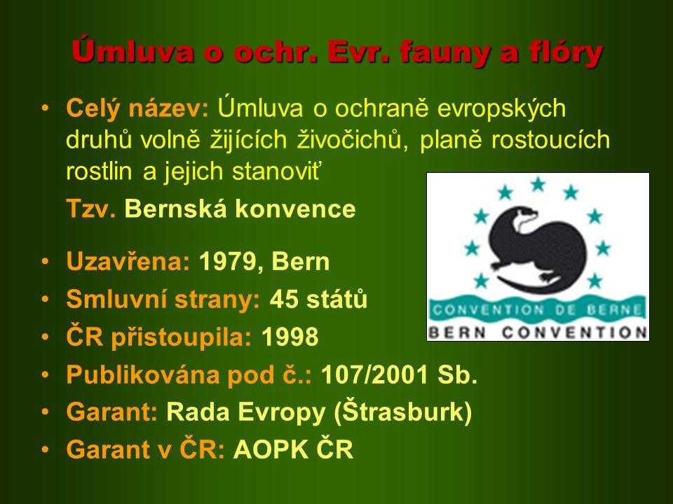 Stěhovavé druhy: Cyklicky n.