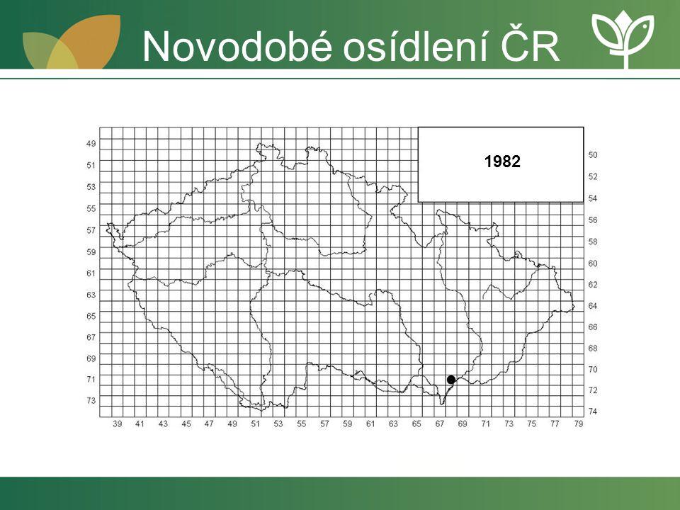 Novodobé osídlení ČR 1982