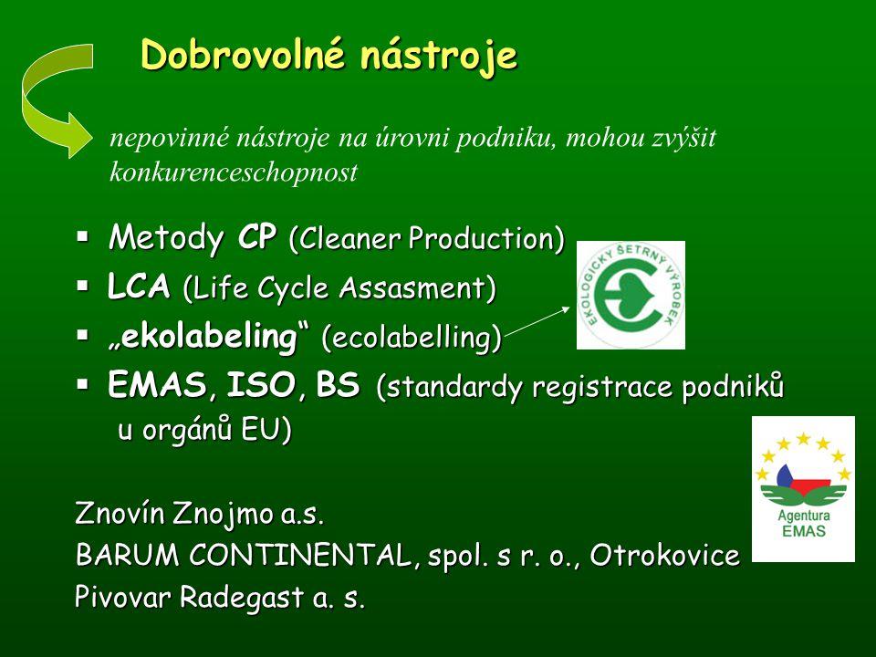Informační nástroje Informační nástroje Z.č. 123/98 Sb., o právu informace o ŽP (dopl.