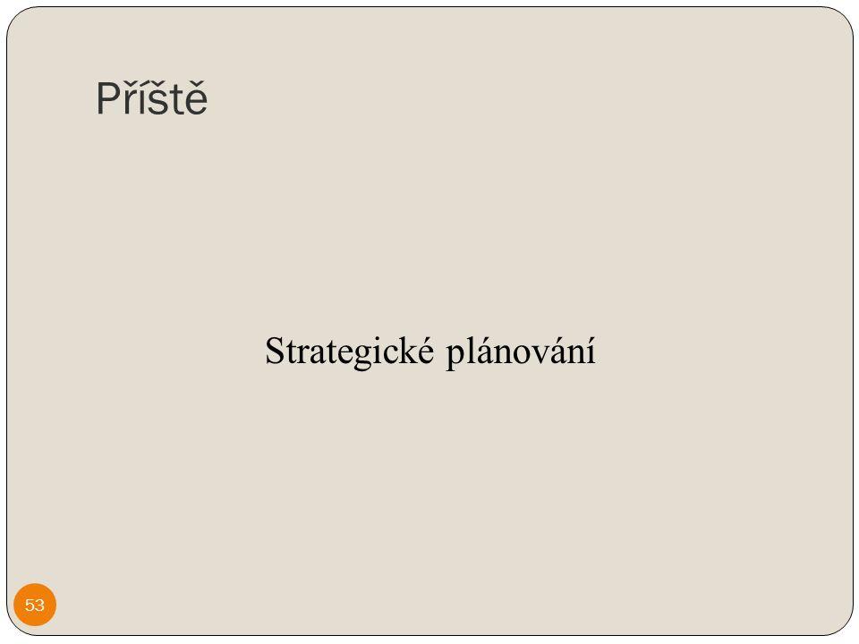 Příště Strategické plánování 53