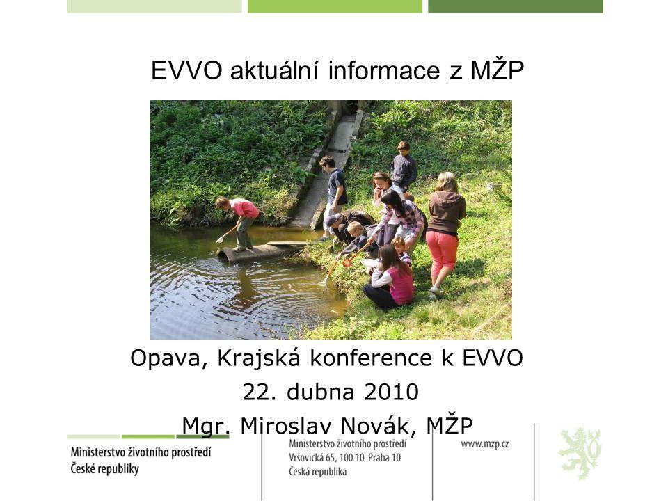 EVVO aktuální informace z MŽP Opava, Krajská konference k EVVO 22.