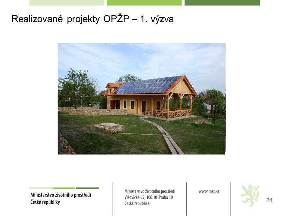 24 Realizované projekty OPŽP – 1. výzvakrajích