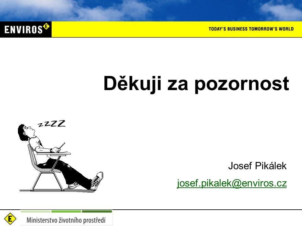 Děkuji za pozornost Josef Pikálek josef.pikalek@enviros.cz