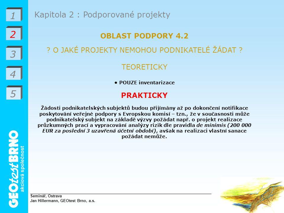 1 2 3 4 Kapitola 2 : Podporované projekty OBLAST PODPORY 4.2 .