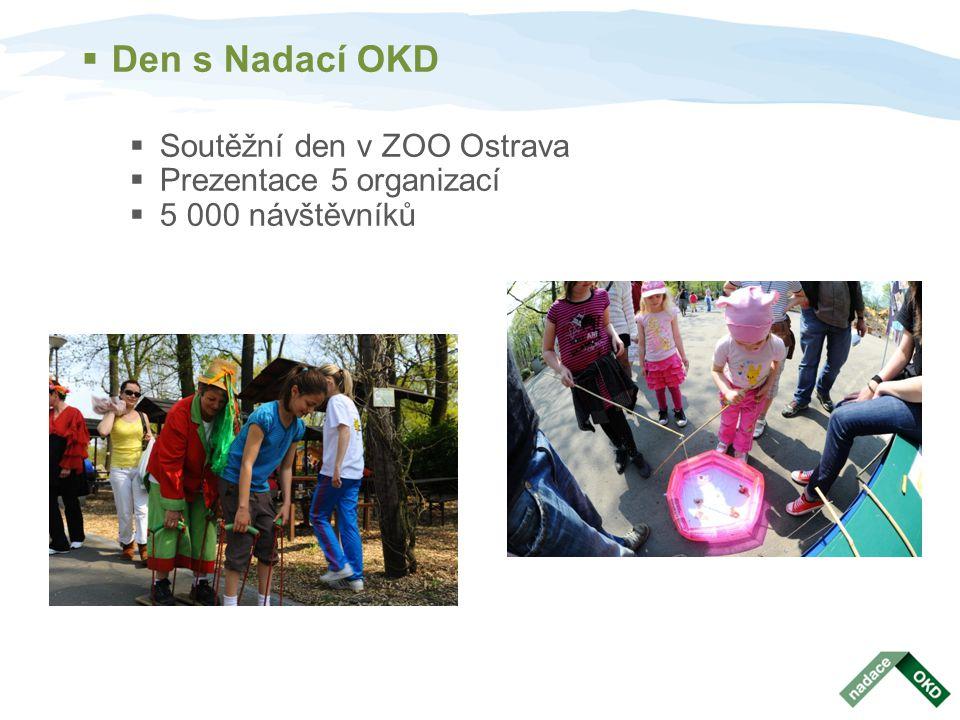  Hornické slavnosti a Karnevalový průvod  Chillout zóna Nadace OKD v parku Boženy Němcové  Nadační městečko – 17 stánků, prezentace neziskových organizací.
