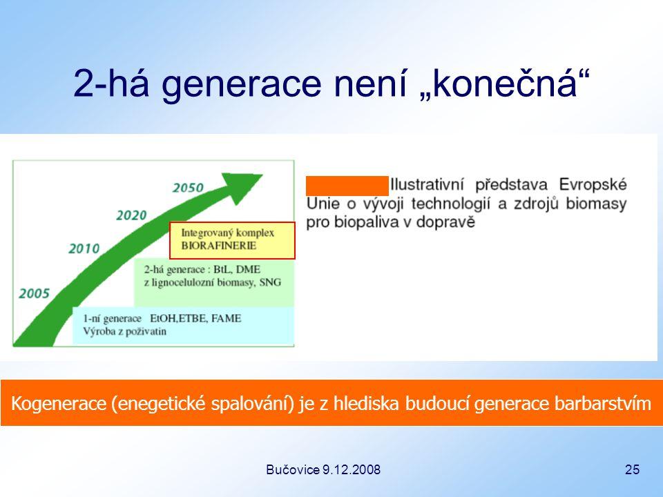 """Bučovice 9.12.2008 25 2-há generace není """"konečná Kogenerace (enegetické spalování) je z hlediska budoucí generace barbarstvím"""