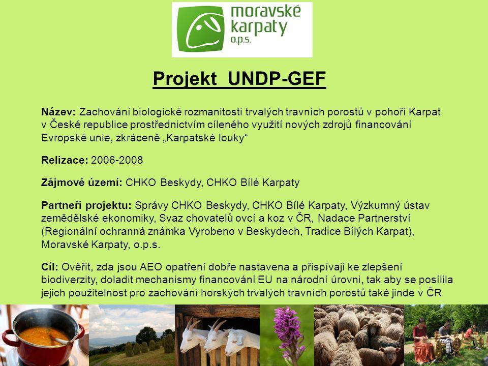 Projekt UNDP-GEF Název: Zachování biologické rozmanitosti trvalých travních porostů v pohoří Karpat v České republice prostřednictvím cíleného využití