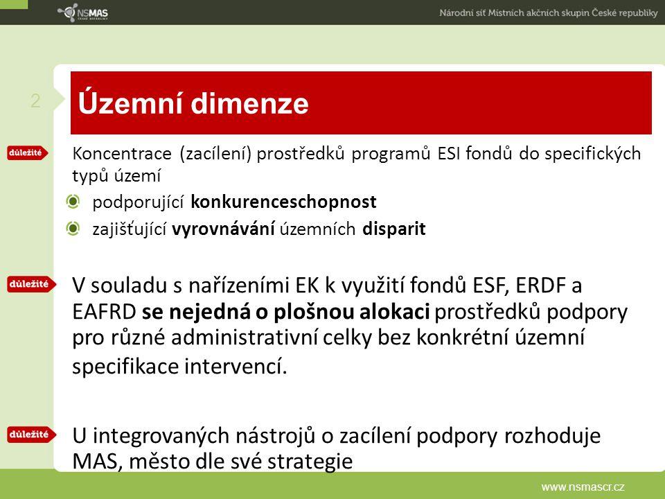 Strategie komunitně vedeného místního rozvoje (SCLLD) příjem SCLLD k hodnocení (MMR) výzva bude vyhlášena 24.2.2015 Stádium přípravy SCLLD Hotové analytické části a návrhové Nyní MAS pracují na implementační a aktualizují návrhové části SCLLD schválení strategií cca ½ roku po příjmu SCLLD Přidělení financí dle OP 7.1.2015 www.nsmascr.cz 23