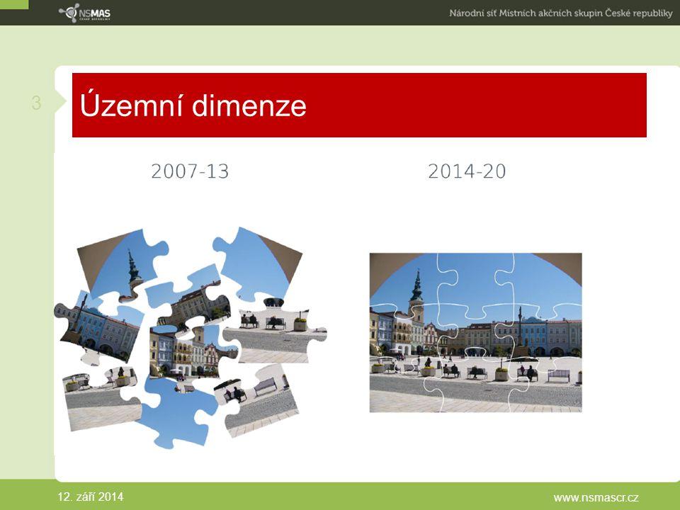 Územní dimenze 12. září 2014 www.nsmascr.cz 3