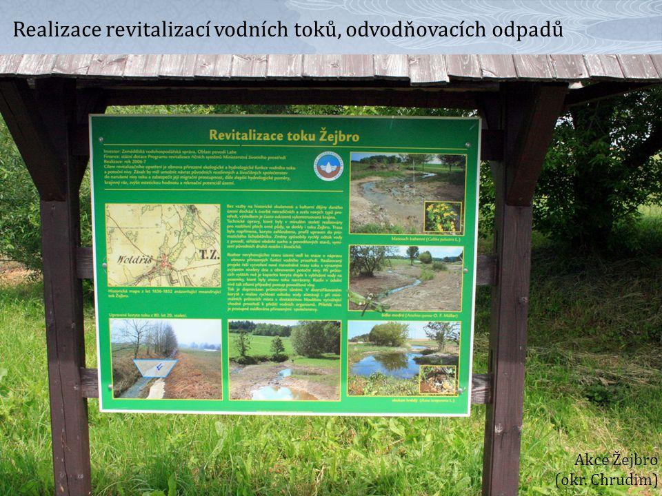 Realizace revitalizací vodních toků, odvodňovacích odpadů Akce Žejbro (okr. Chrudim)