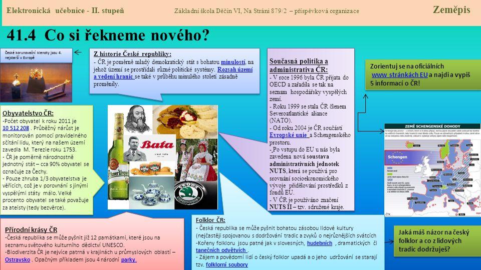 41.4 Co si řekneme nového.Elektronická učebnice - II.